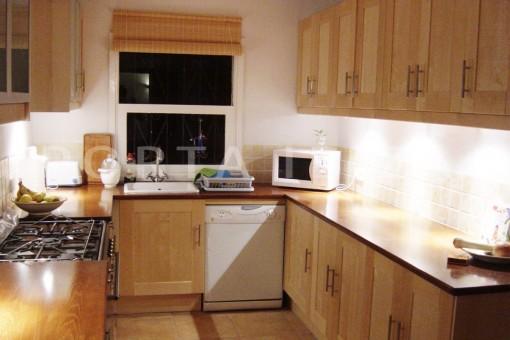 kitchen-cala moli-spacious villa-sea views