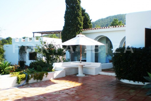 terrace area-cala moli-spacious villa-sea views