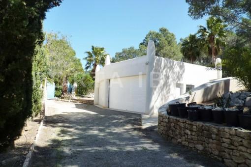 garden terrace-Cala-Vadella-villa