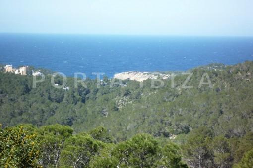 landscape view-Cala-Vadella-villa