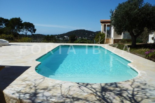 pool & view-Cala-Vadella-villa