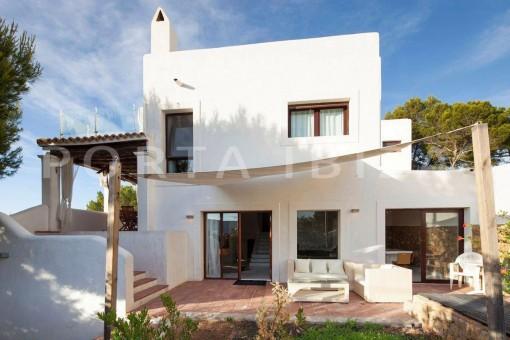 Villa in Cala Molí mit fantastischem Sonnenuntergangsblick