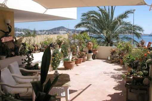 view-from-terrace-to-the-port-Ibiza-apartment