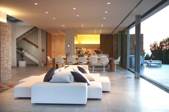 einrichtungsideen für offene räume küche modern | wohnideen