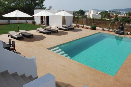pool area-Port-des-Torrent-villa