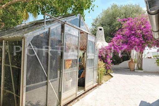glasshouse garden-nice house-Ibiza