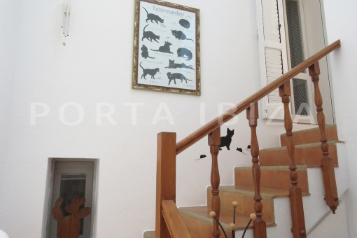 stairs-fabulous semi detached house with stunning sea views