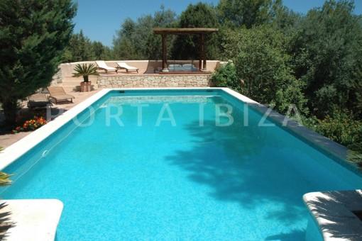 pool & living-villa-Santa Gertrudis