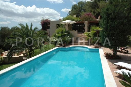 pool area-villa-Santa Gertrudis