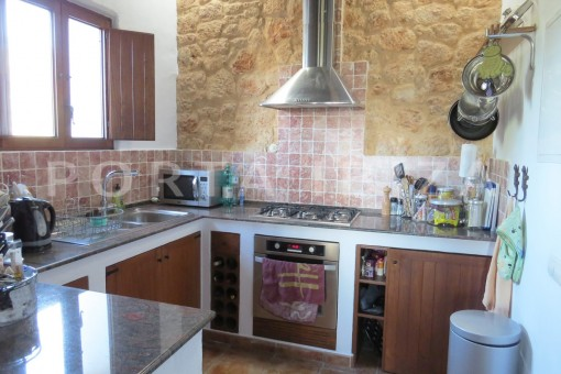 kitchen-fantastic finca with sea views