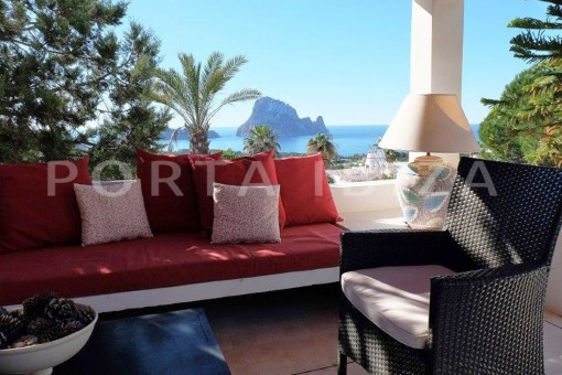 chill out with view to es vedra-fantastic villa-ibiza