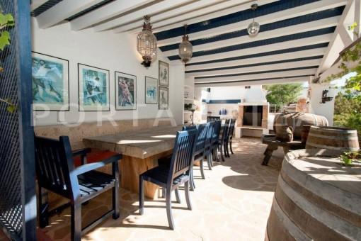 dinner-fantastic villa-es vedra-ibiza