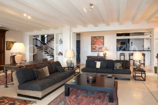 living & relax-fantastic villa-es vedra-ibiza