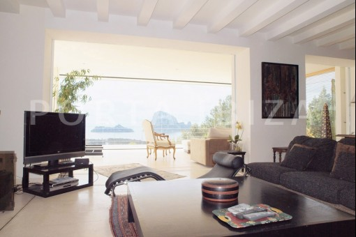 TV room-fantastic villa-es vedra-ibiza