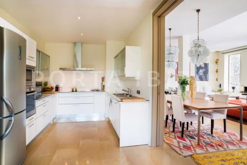 kitchen-wonderful villa-seaview-roca llisa