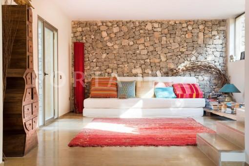 living & relax-wonderful villa-seaview-roca llisa