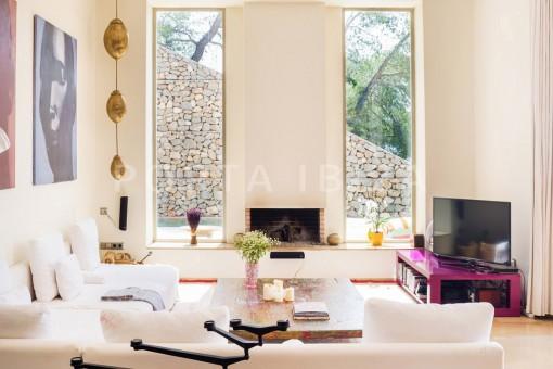 livingroom-wonderful villa-seaview-roca llisa