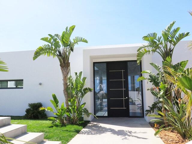 Eingang-Modern-Villa-Vista Alegre-Meerblick-Es Cubells