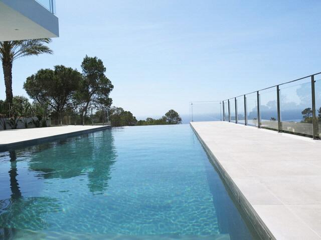 Pool-Terrasse-Modern-Villa-Vista Alegre-Meerblick-Es Cubells
