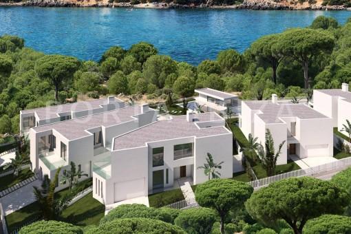 Exzellentes Neubauprojekt direkt am Strand von Cala Llenya