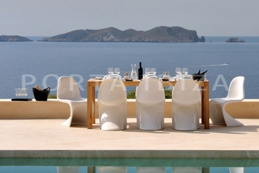 pool dinner-marvelous villa-calo d'en real-ibiza