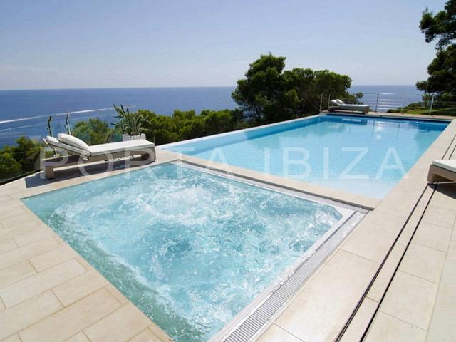 pool-modern villa-ibiza-marvelous seaview