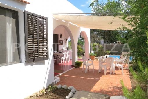 garden & terrace-charming house-santa eularia
