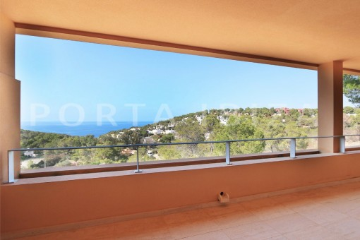 balcony view-apartment-cala carbo