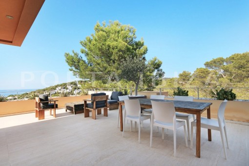 terrace dinner-apartment-cala carbo