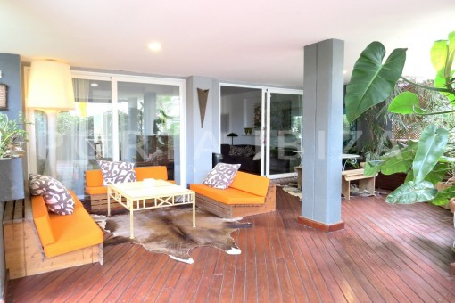 chillout & terrace-wonderful apartment- Botafoch-Ibiza