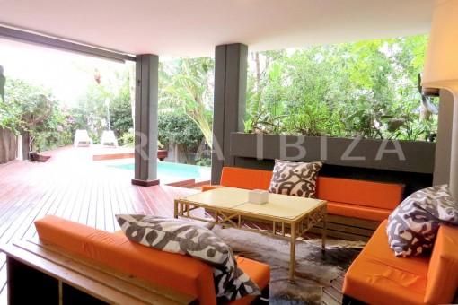 chillout terrace-wonderful apartment- Botafoch-Ibiza