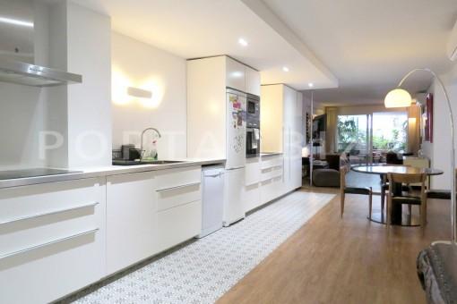 kitchen & dinner-wonderful apartment- Botafoch-Ibiza