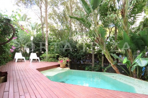 pool terrace-wonderful apartment- Botafoch-Ibiza