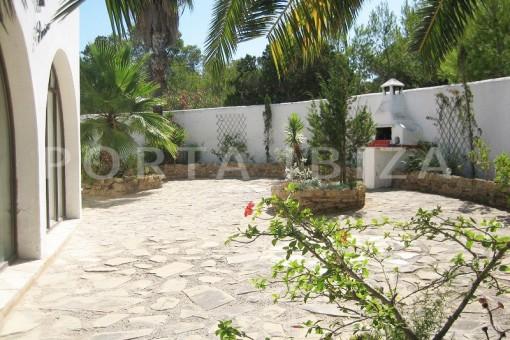 garden terrace-villa-cala tarida-amazing sea view
