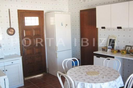 kitchen area-villa-cala tarida-amazing sea view