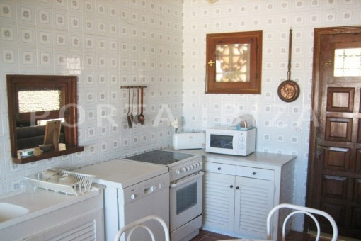 kitchen-villa-cala tarida-amazing sea view