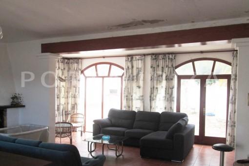 livingroom-villa-cala tarida-amazing sea view