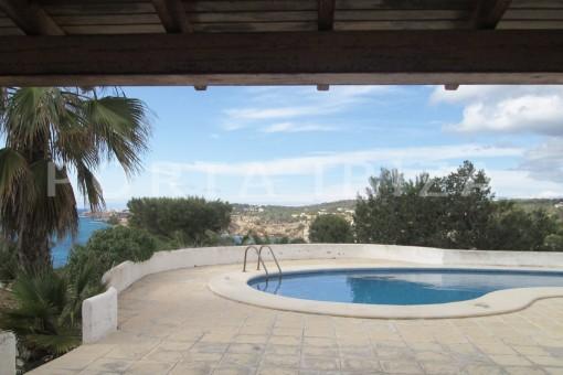 pool-villa-cala tarida-amazing sea view