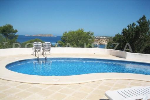 sea view-pool-villa-cala tarida