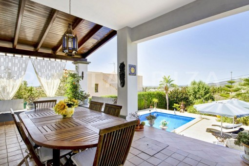 dinner terrace-spacious villa-sa carroca-ibiza