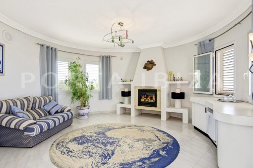 fireplace-spacious villa-sa carroca-ibiza