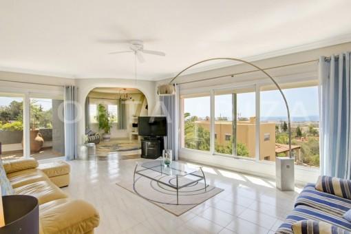 livingroom-spacious villa-sa carroca-ibiza