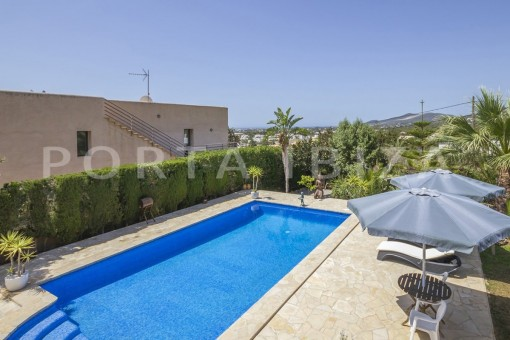 pool & chillout-spacious villa-sa carroca-ibiza