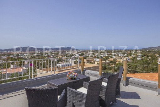 roof area-spacious villa-sa carroca-ibiza