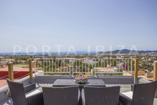 roof terrace-spacious villa-sa carroca-ibiza