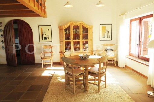 dinner & living-charming house-san augustin-benimussa valley