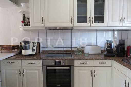 kitchen area-wonderful apartment-S'Argamassa-sea view