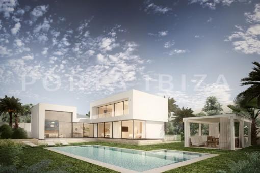 Wunderschöne Villa in Konstruktion mit Meerblick