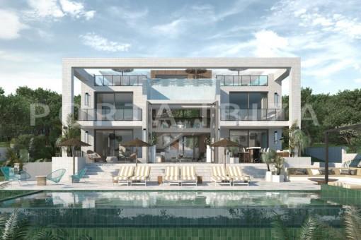 Luxusvilla in Konstruktion bei Cala Conta