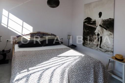 bedroom2-wonderful modern villa-magnificent setting-Na Xamena